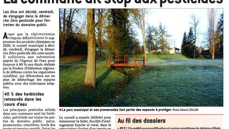 La commune dit stop aux pesticides
